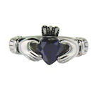 sterling silver claddagh rings CLR1003 February