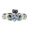 sterling silver claddagh rings CLR1003 March