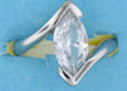 sterling silver Cubic Zirconia ring CZ0013 Clear