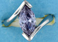 sterling silver Cubic Zirconia ring CZ0013 Purple