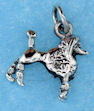 sterling silver poodle pendant