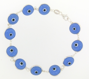 Evil Eye Bracelet EEB006 Light Purple