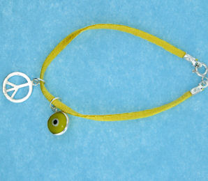 Evil Eye Cord Bracelet EEB12348YELLOWP