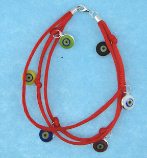 Evil Eye Cord Bracelet EEB4211RED