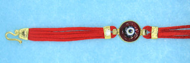 Evil Eye Cord Bracelet EEB5007RED