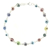 sterling silver evil eye bracelet EEB6121MC