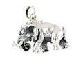 sterling silver elephant pendant ELP7061138