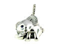 sterling silver elephant pendant ELP7064506