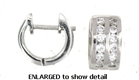 EPCE1180 cz huggie earrings enlarged view