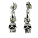 stainless steel skull earrings ERC1003