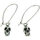 stainless steel skull earrings ERC1006