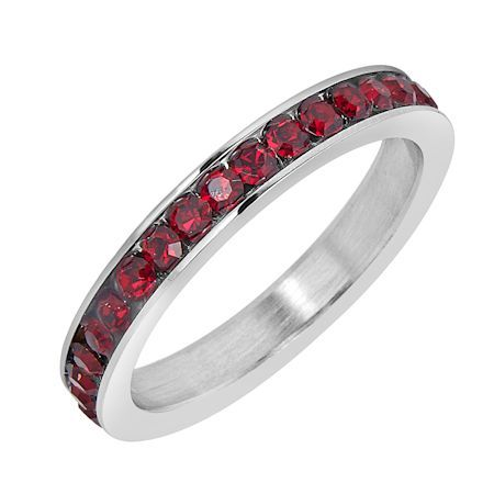 ETR0001 January CZ Birthstone Ring