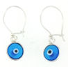 sterling silver evil eye earrings