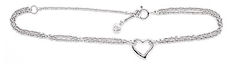 Silver Heart Anklets