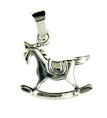 sterling silver horse necklace HNL42105