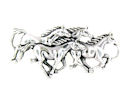 sterling silver horse necklace HNL42183