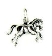sterling silver horse necklace HNL7061102