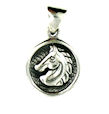 sterling silver horse necklace HNL7063421