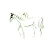 sterling silver horse necklace HNL7066175
