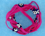Evil Eye 11465 bracelet Hot Pink with blue eyes