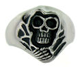 Stainless Steel skull ring KRJ005