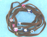 Evil Eye 11465 bracelet Lite Brown with mixed eyes