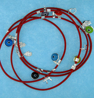 Evil Eye Cord Bracelet LW001RED