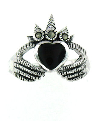 MARR2154 sterling silver claddagh ring
