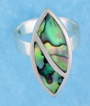 sterling silver MOP ring MOPR0009-ABALONE