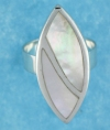 sterling silver MOP ring MOPR0009-White