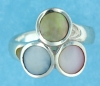 sterling silver mother of pearl ring