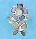 sterling silver MOP ring MOPR0016-MIXED