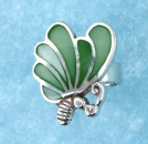 sterling silver MOP ring MOPR0017-GREEN