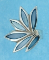 sterling silver MOP ring MOPR0018-BLUE