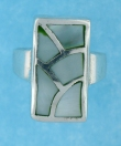 sterling silver MOP ring MOPR0021-GREEN