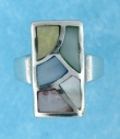 sterling silver MOP ring MOPR0021-MIXED