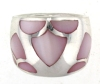 sterling silver MOP ring MOPR002-PINK
