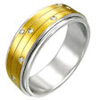 stainless steel spinner ring style MSD022