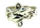 model PR1196 Dolphin Puzzle Ring