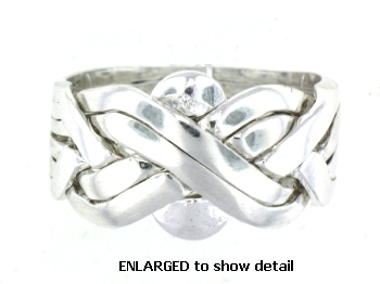 Model PR338 Puzzle Ring Enlarged
