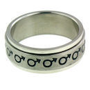 stainless steel spinner ring RRJ0066