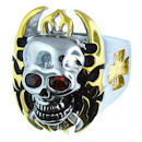 Stainless Steel skull ring SCR0250