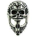 Stainless Steel skull ring SCR1003