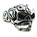 Stainless Steel skull ring SCR2019