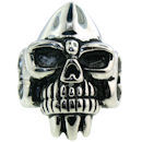 Stainless Steel skull ring SCR3028