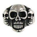 Stainless Steel skull ring SCR3038