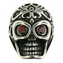 Stainless Steel skull ring SCR3039