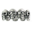 Stainless Steel skull ring SCR3041