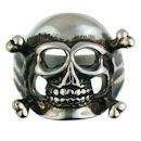 Stainless Steel skull ring SCR3049