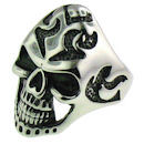 Stainless Steel skull ring SCR3053